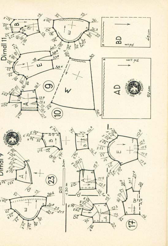 Lutterloh Dirndl Supplement 1950\'s pg. 43 | VINTAGE LUTTERLOH SEWING ...