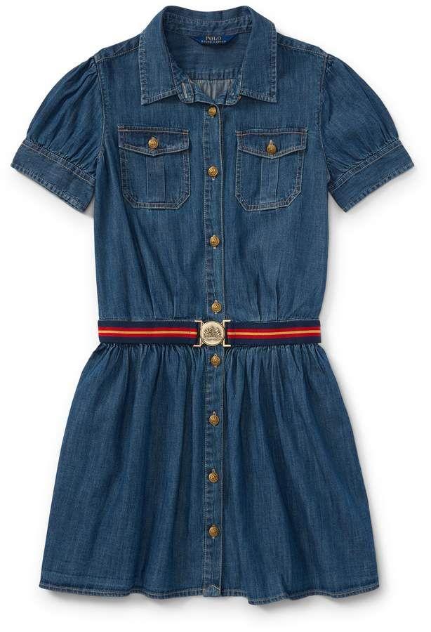 99801f66b Ralph Lauren Belted Denim Shirtdress
