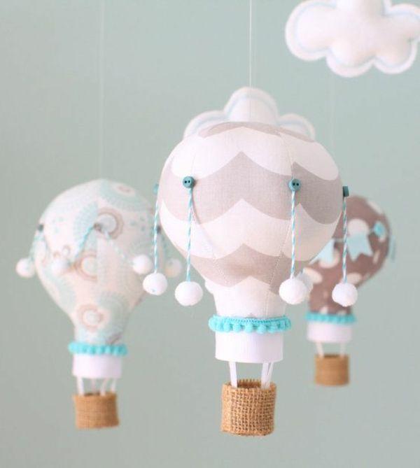 Wunderbare Deko Für Das Babyzimmer Rosa Ballons  Deko