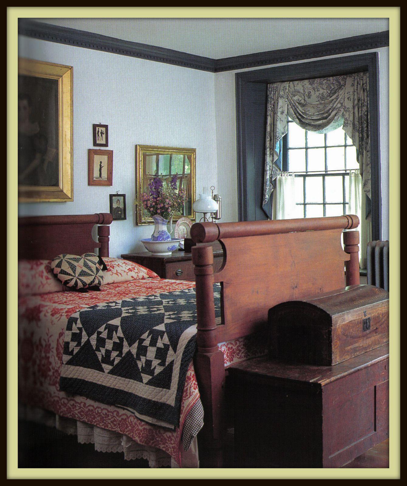 Colonial Primitive Decorating Ideas: Colonial Bedroom