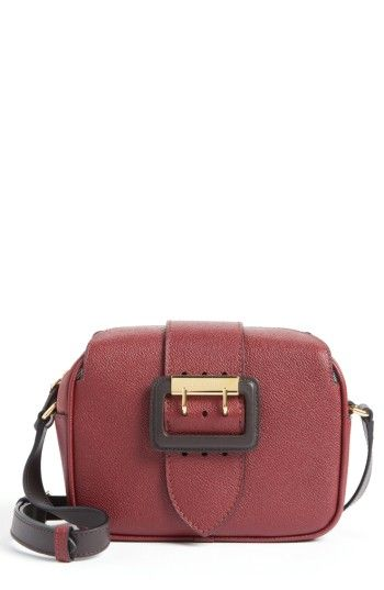 1755294664a8 BURBERRY BURBERRY SMALL BUCKLE LEATHER CAMERA CROSSBODY BAG - BURGUNDY.   burberry  bags  shoulder bags  leather  crossbody