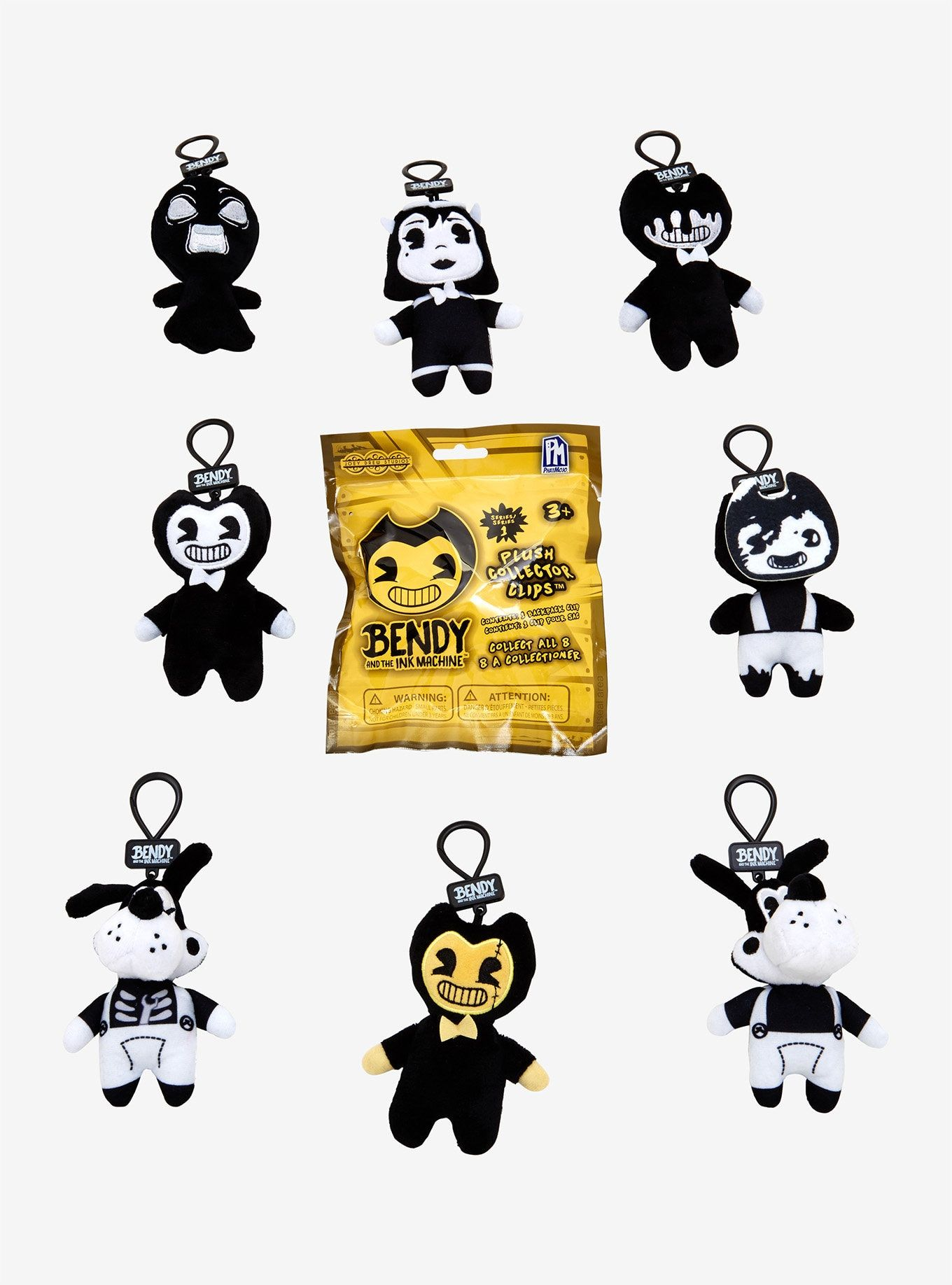 Bendy /& the Ink Machine Blind Bag Collector Clip Series 1 UNOPENED Random NEW