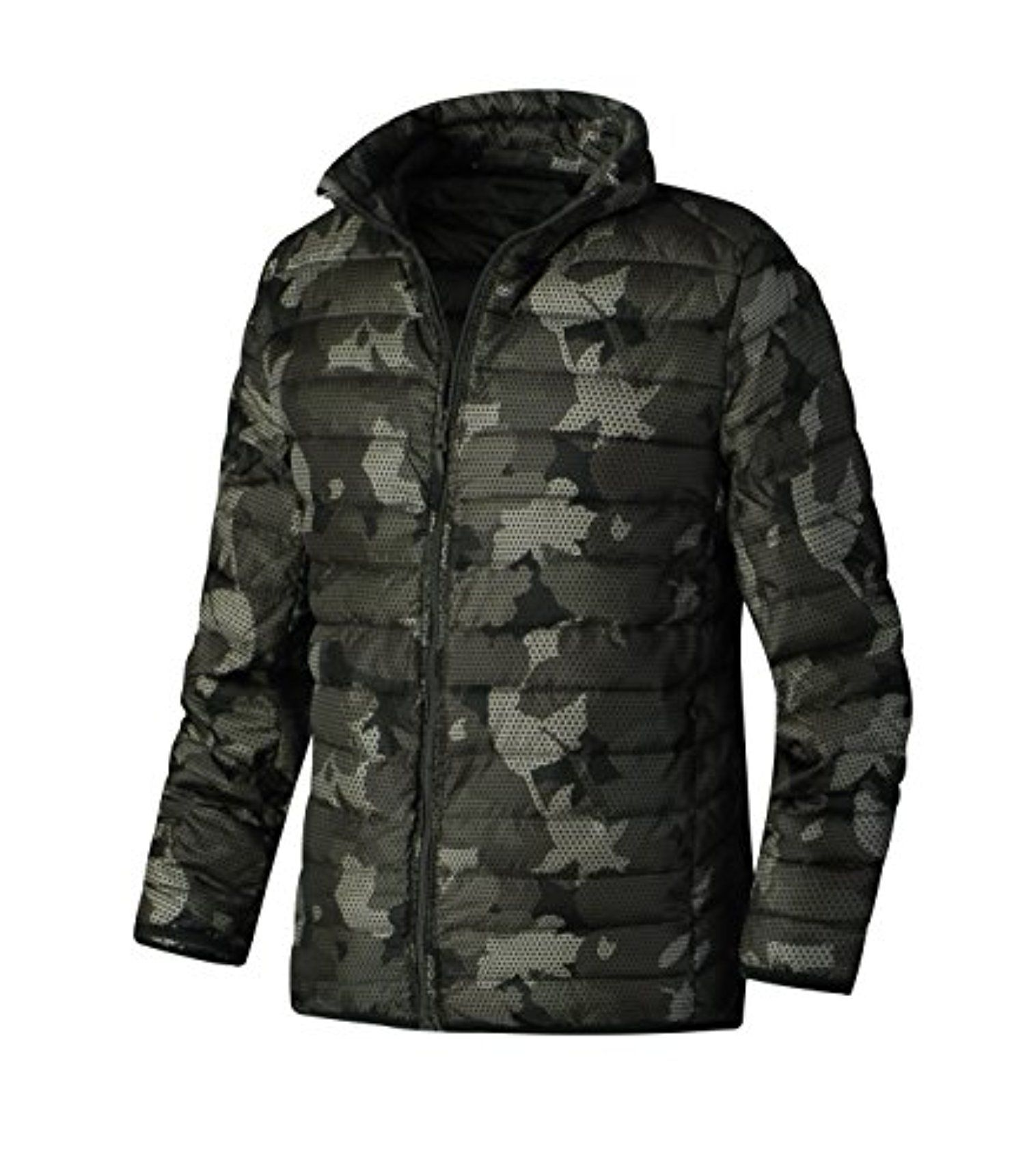HARRISON83 Mens Packable Down Quilted Puffer Jacket Lightweight Puffer Coat/A_RT1091-KHAKI-S -- Awesome products selected by Anna Churchill
