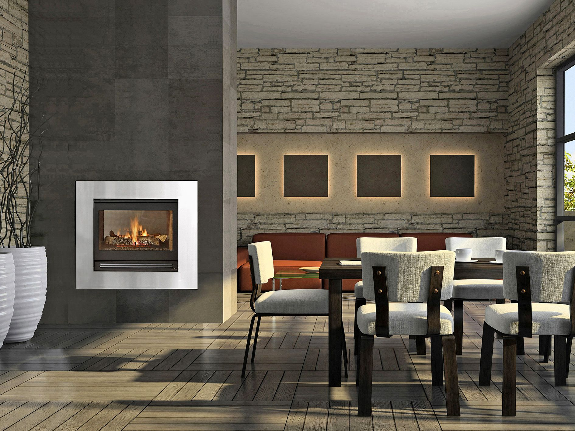 Efficiency of gas fireplace - Heat Glo St Hvbi The Efficient Double Sided Gas Fireplace Heats 2 Rooms