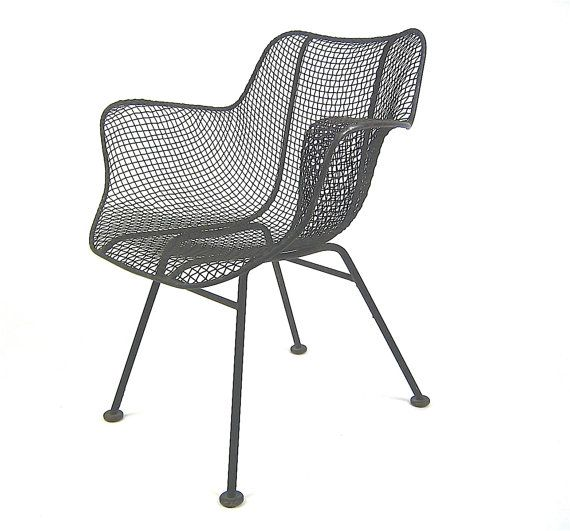 Vintage Russell Woodard iconic Sculptura series wire patio chair, retro awesome, on sale & FREE SHIPPING. $349.00, via Etsy.