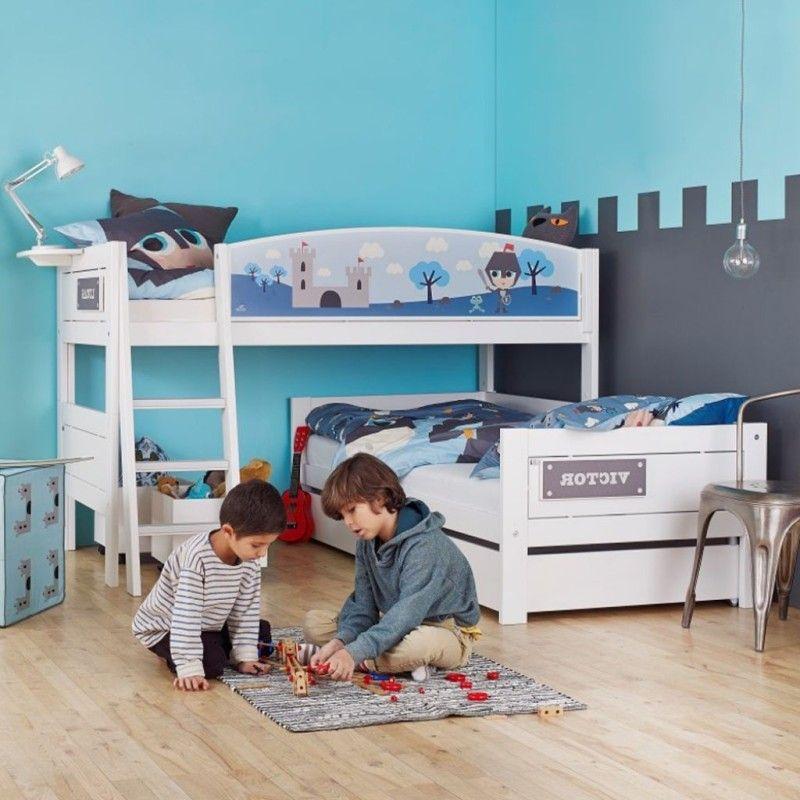 Make A Broad Impression With Corner Bunk Beds For Kids Boys Room