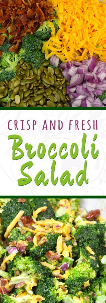 Fresh Broccoli Salad is a classic side dish is perfect for summer cookouts and picnics!