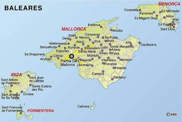 Beler szigetek Fldkzi tenger MallorcaMenorcaIbizaFormentera