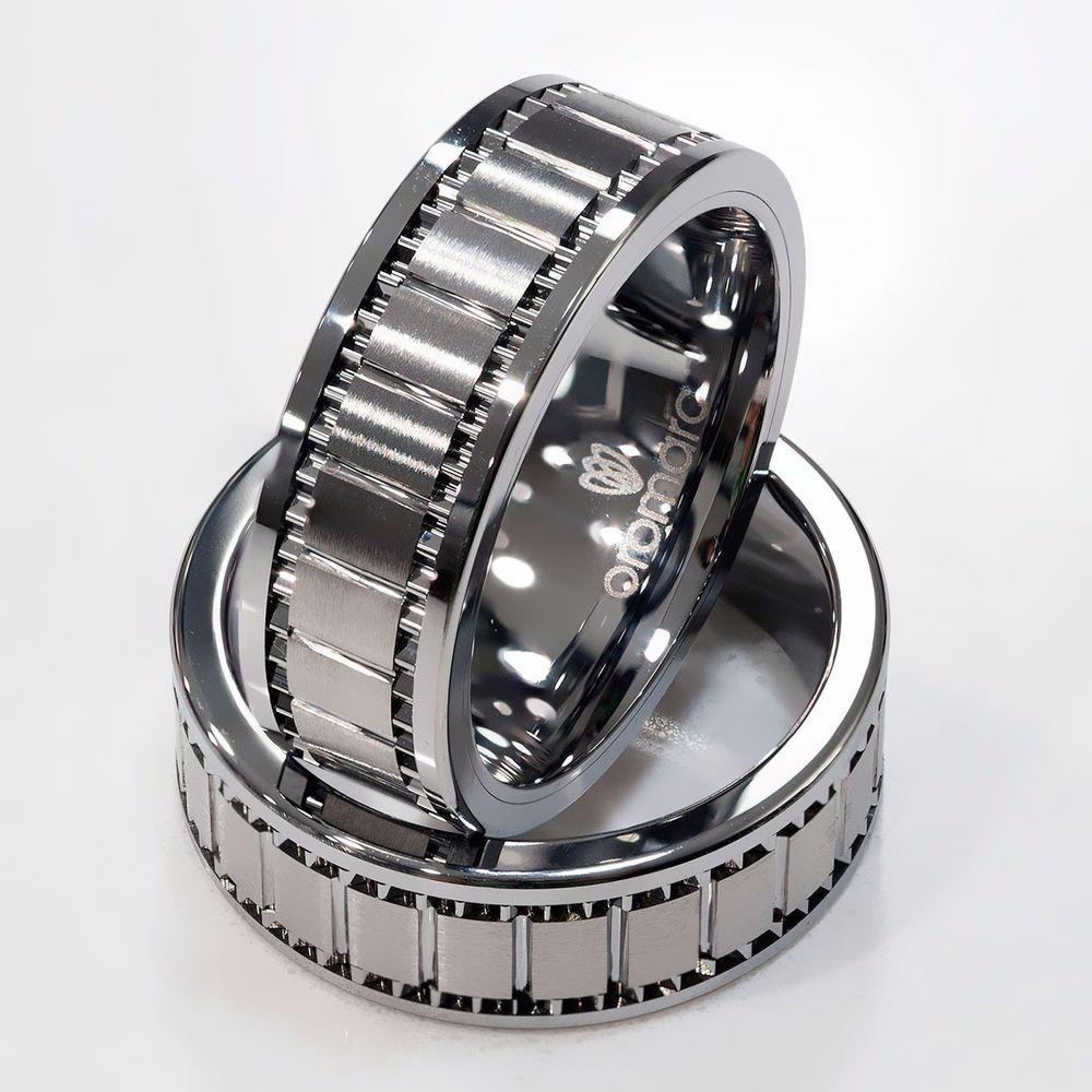 New 8mm Men's Designer Solid Tungsten Carbide Wedding Band