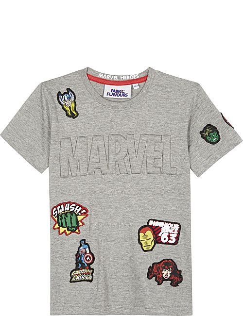 b7b5a5162 FABRIC FLAVOURS Embossed cotton T-shirt 3-8 years | Super Heroes | T ...