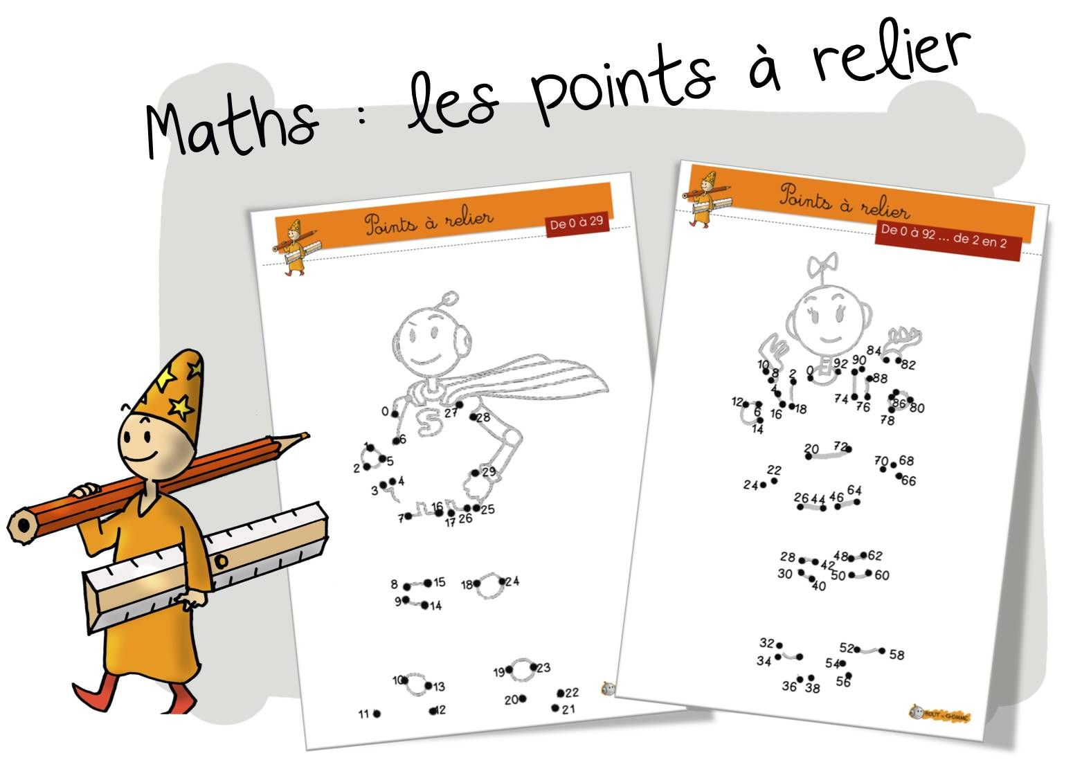 Maths Les Points à Relier De 0 à 99 Dot To Dot Points