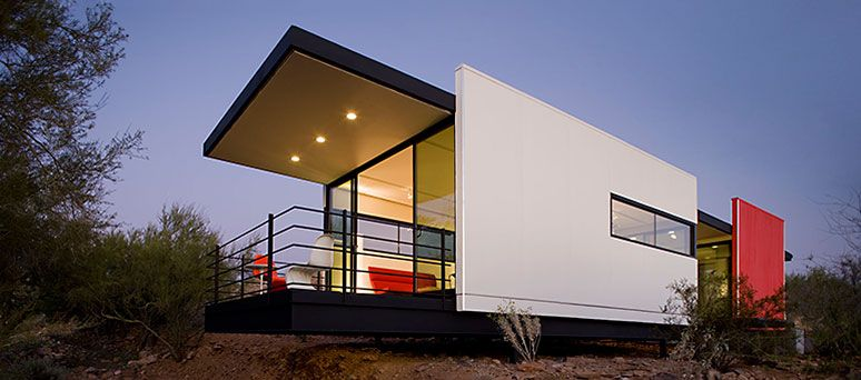 Lindal cedar homes is now delivering the mod fab a modern for Frank lloyd wright modular homes