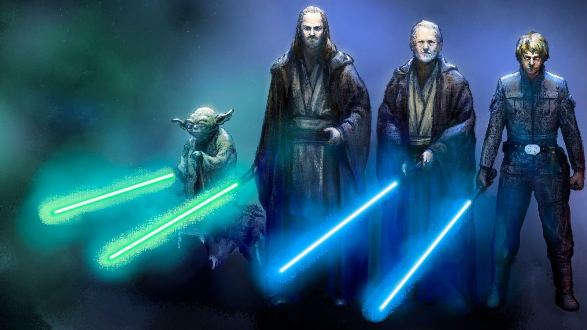 Epic Battle Wallpaper 1920 x 1080 Star Wars jedi HD