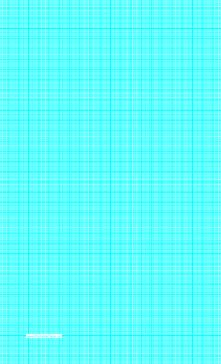 this legal sized graph paper has one aqua blue line per millimeter