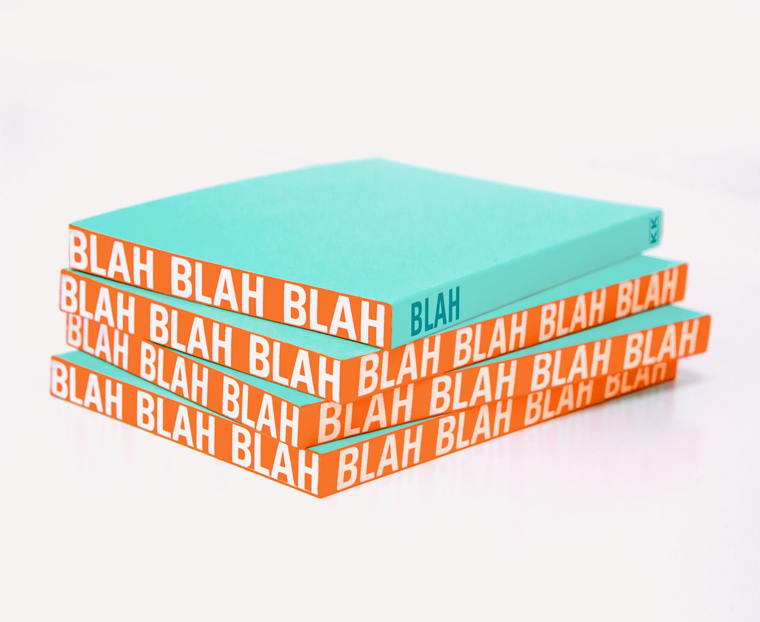 """Knock Knock Blah notebooks are lined journals nice for back-to-school. Knock Knock funny """"Blah blah blah"""" work sticky notes compliment this cool notebook."""