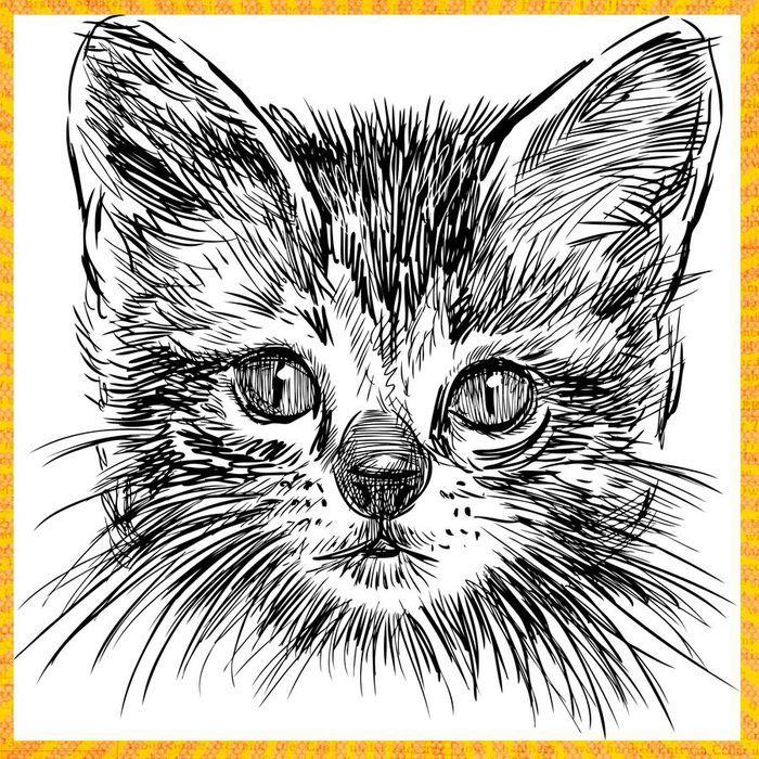 !_set4_85 (700x700, 171Kb) | Кошачий арт, Эскизы животных ...