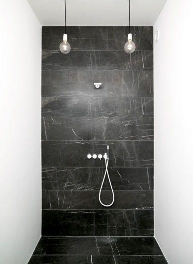 Bath Double Sinks Showers Remodelista Black Marble Bathroom Bathroom Remodel Designs Bathroom Design