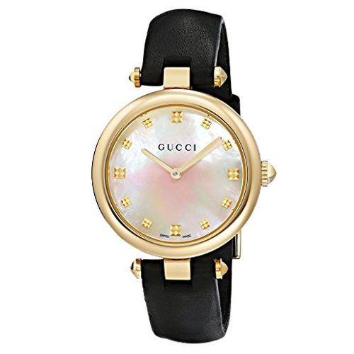 f76e7cf10f6 Relógio Gucci Feminino Couro Preto - YA141404