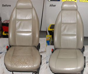 Leather car seats can sometime crack due to improper care. Leather ...
