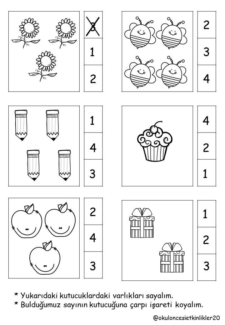 Sayi Rakam Calisma Sayfasi Mykinglist Com Kindergarten Math