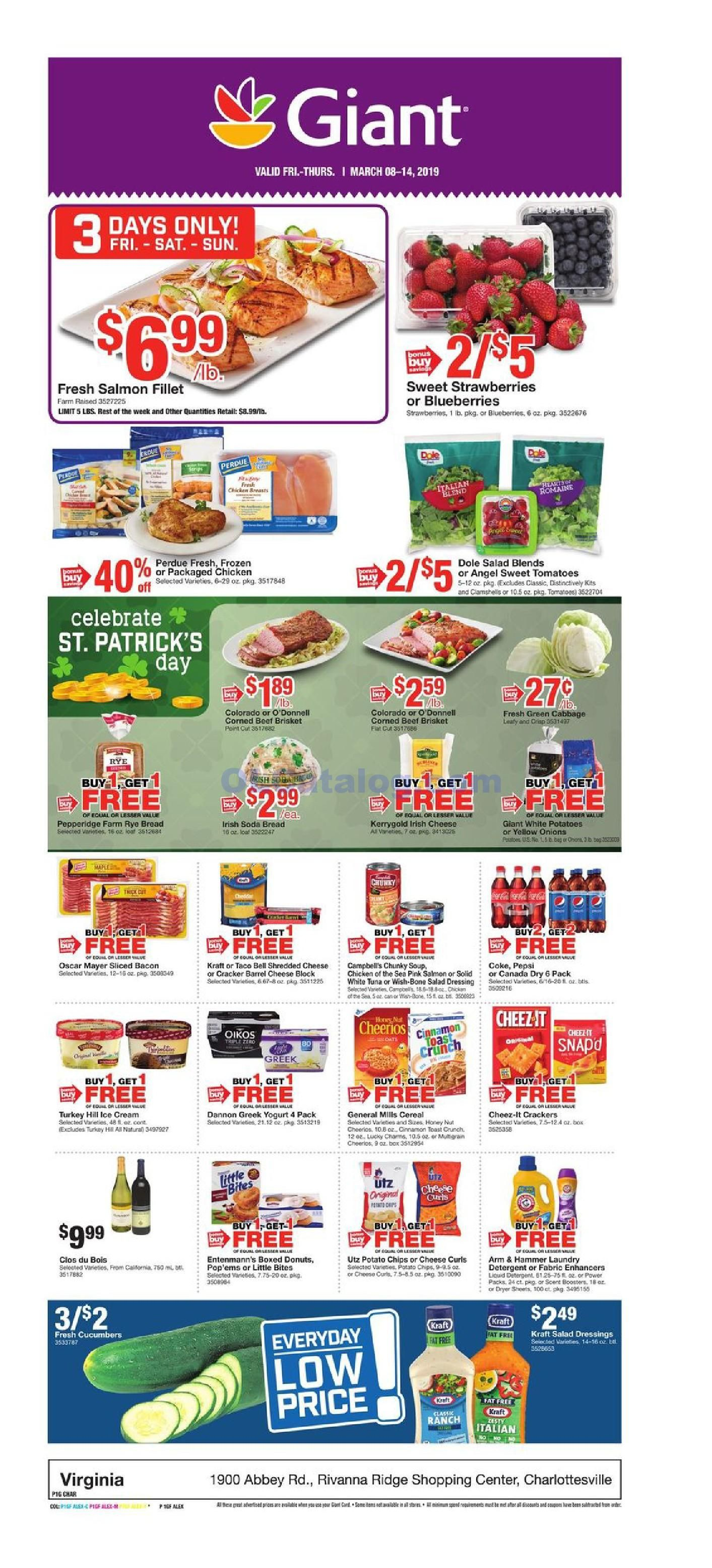 Giant food weekly ad march 8 14 2019 do you know what