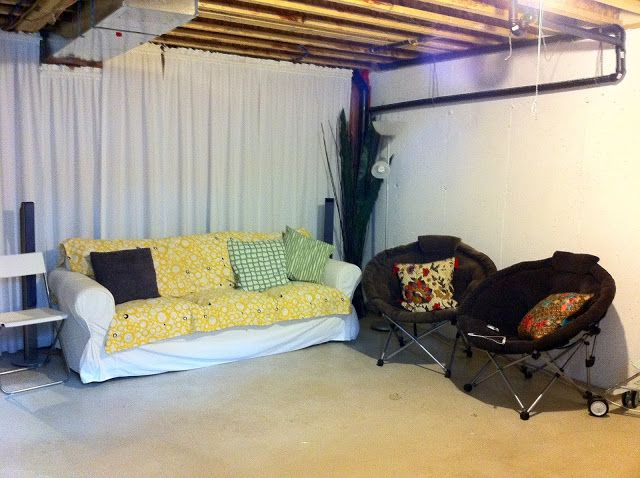 Create A Hangout In Your Unfinished Basement