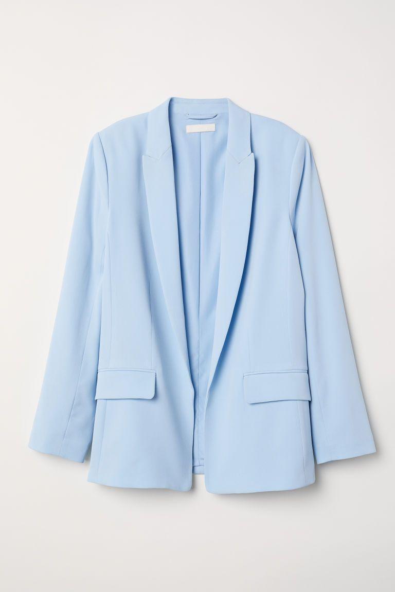 ljusblå kostym dam