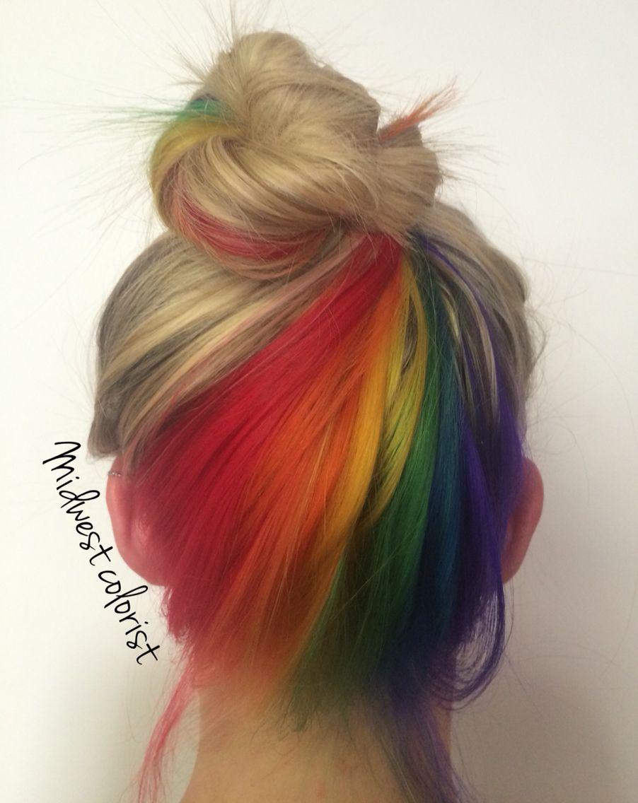 my favorite work so far. the hidden rainbow rainbow hair | hair