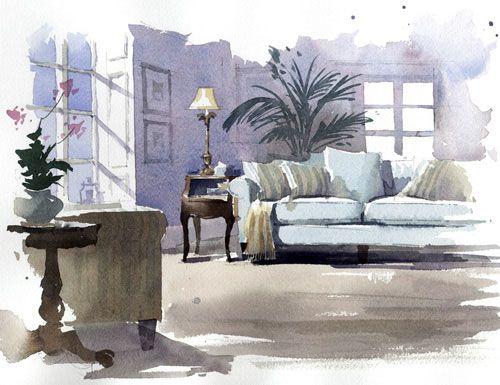 Watercolor By Peilli Wang