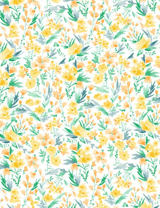 yellow floral pattern - photo #40