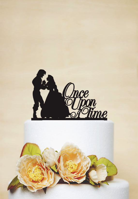 Once Upon A Time Wedding Cake Topper Rapunzel Cake Topper Romantic