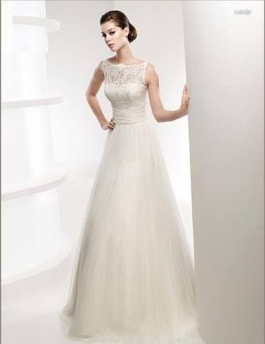 New Lace spaghetti straps round neck Wedding dress plus size Bridal ...