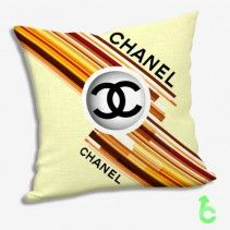 Chanel Geometric Abstract Brown Yellow Pillow Cases