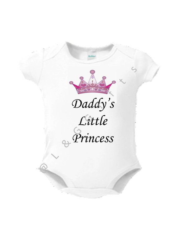 db8f75419c32 Fathers day baby girl outfit, Daddy's little princess outfit, Princess baby  outfit, Little princess