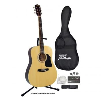 Pyle Professional Full Size Acoustic Guitar Package With Accessories Walmart Com Guitar Guitar Tuners Acoustic Guitar