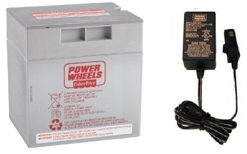 Gray 12V Power Wheels Battery + 12 Volt Gray Charger w/ Probe 00801-1480 Power Wheels http://www.amazon.com/dp/B005FNKSMW/ref=cm_sw_r_pi_dp_WW42vb0PAMKX9