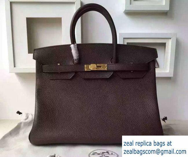 adacafdbd3 Hermes Birkin 30/35 Bag in Original Togo Leather Bag Dark Coffee ...