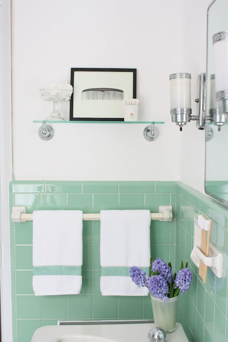 Bathroom In 2020 Green Bathroom Accessories Seafoam Green Bathroom Green Bathroom