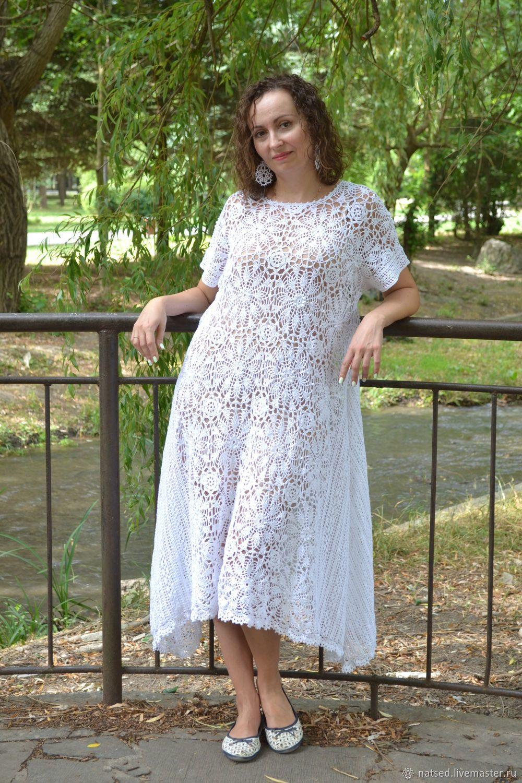 4602896d205 Платья ручной работы. Вязаное крючком бохо-платье