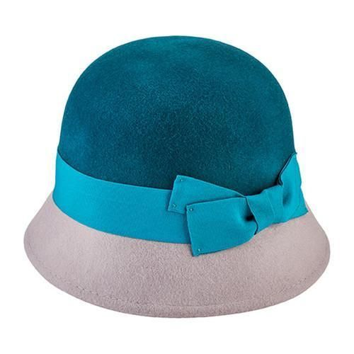 40b9eb72 Women's San Diego Hat Company Color Block Cloche with Grosgrain Bow WFH3546