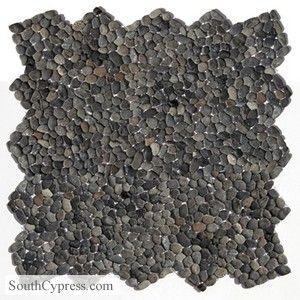 Micro Pebbles 12 X 12 Barbados Black Mosaic Flooring Decorative Pebbles Natural Stone Flooring