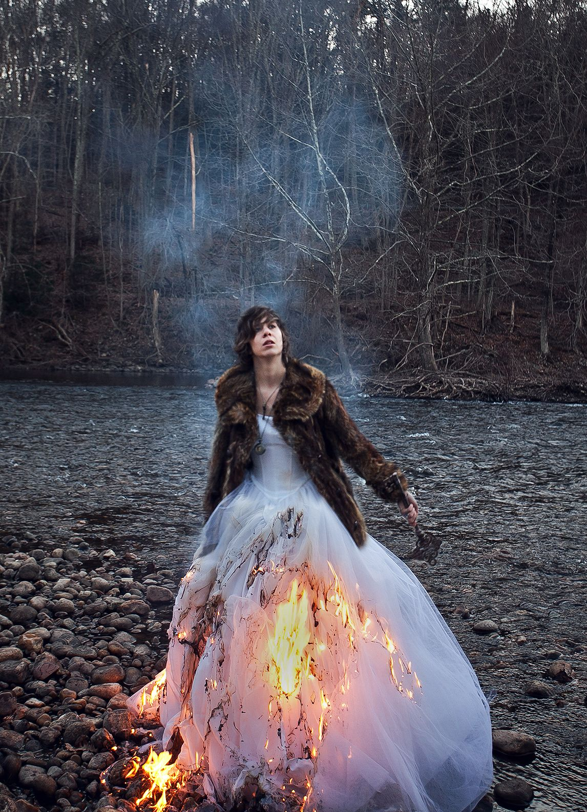 Not take Trash the dress on fire
