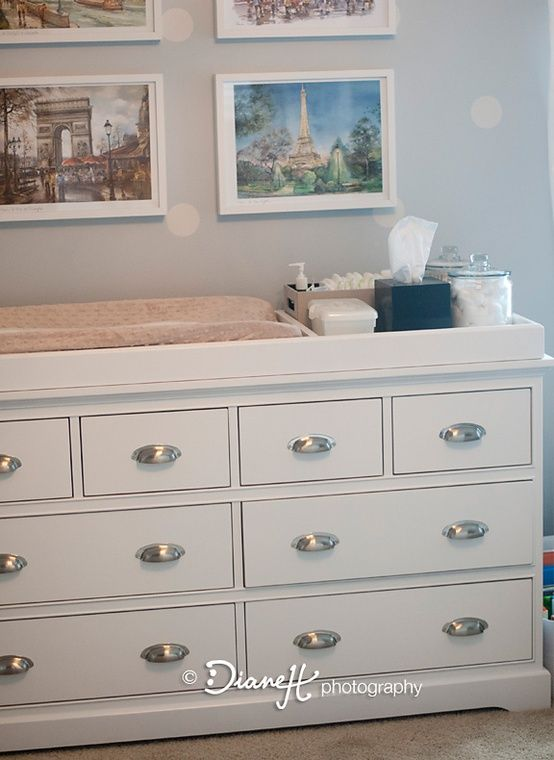 Organizing Baby Changing Table