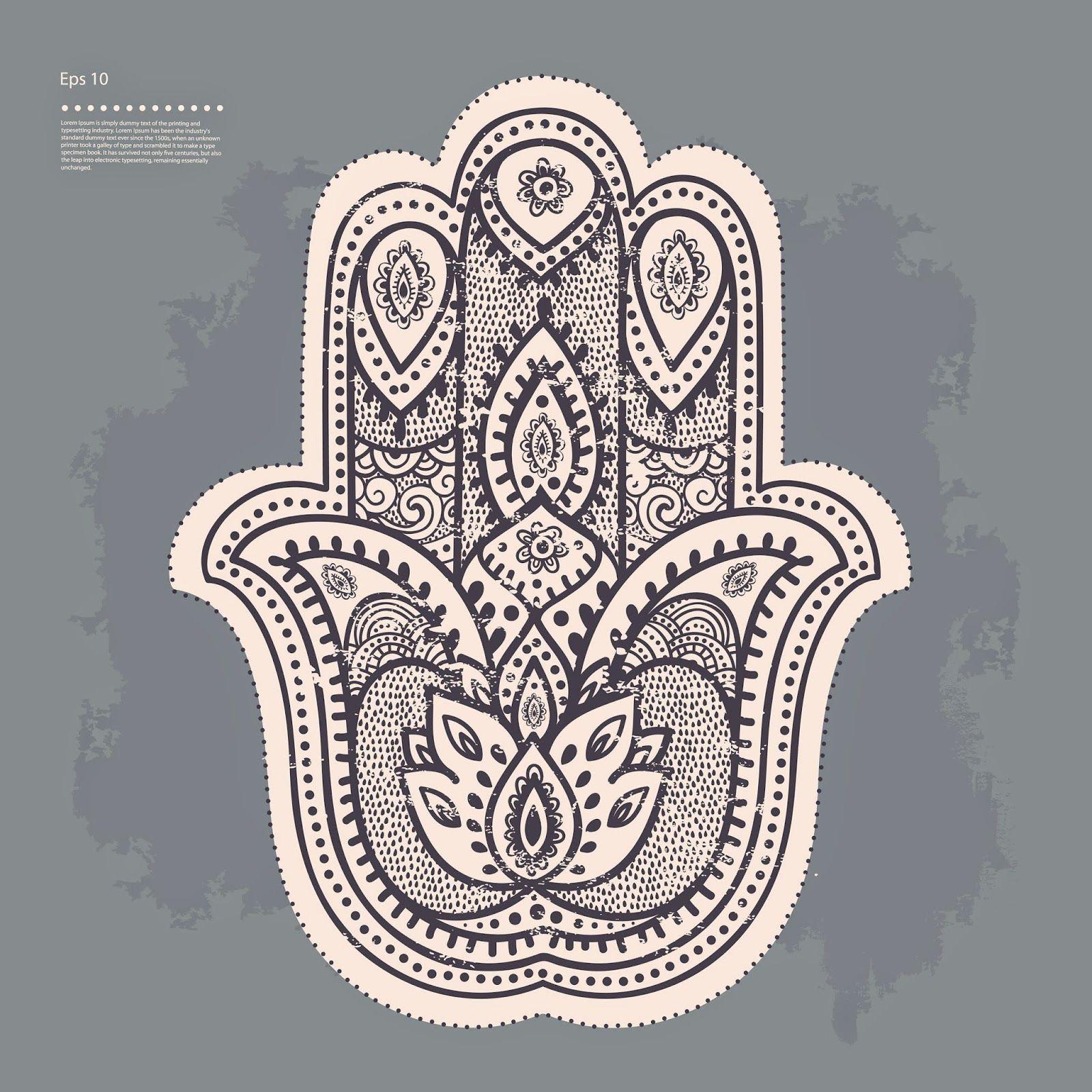 hamsa hand of fatima mandala coloring