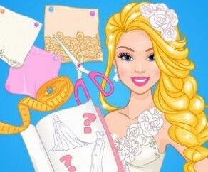 Barbie Wedding Dress Design   Barbie Dress Up Game