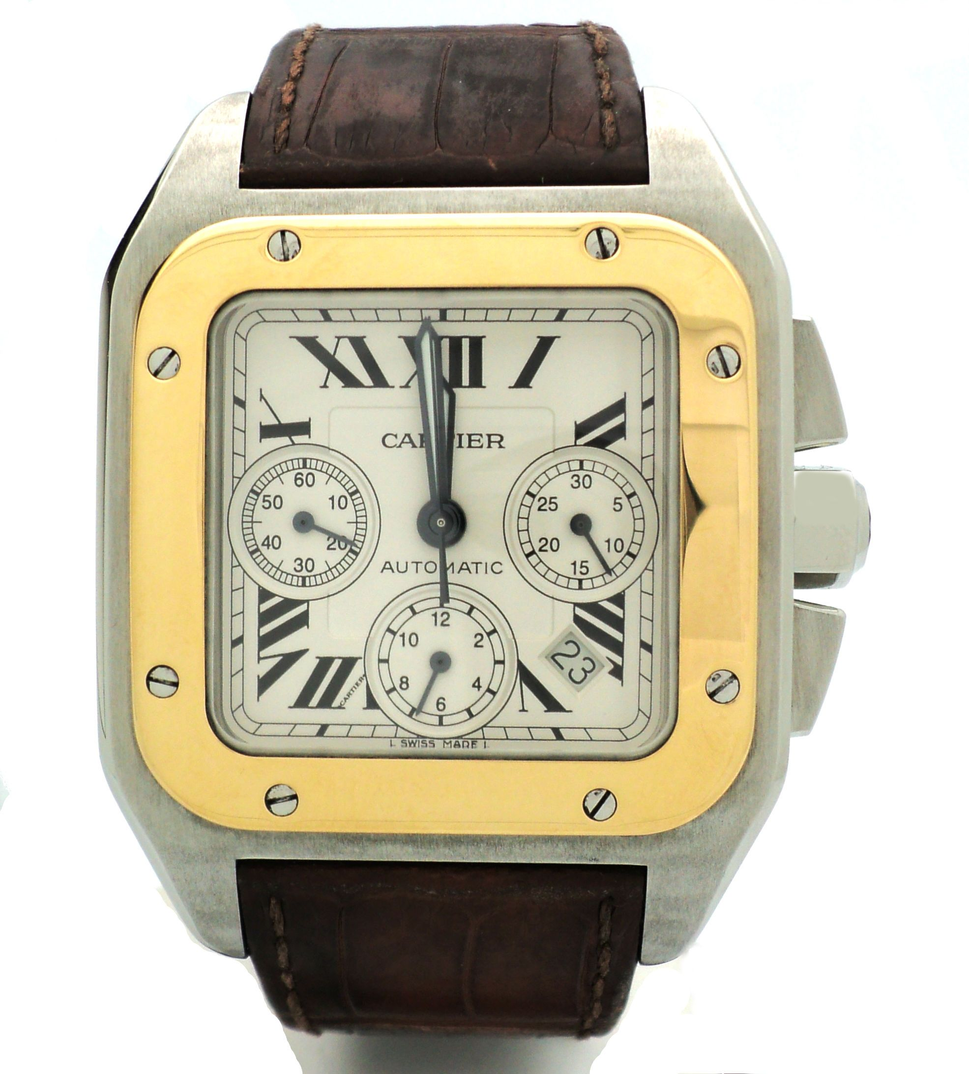 cartier watches steel men pasha de automatic buy stainless s sell