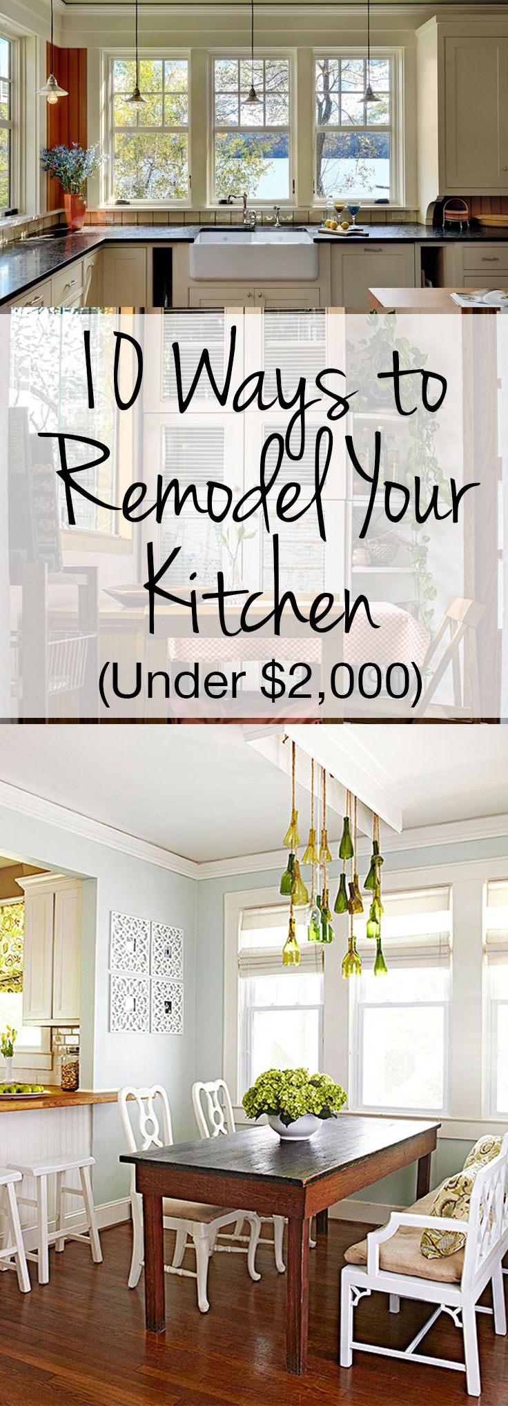 10 ways to remodel your kitchen under 2 000 cheap for Cheapest way to remodel kitchen