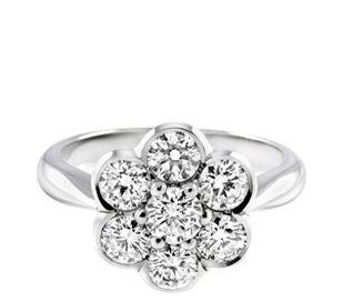 Diamond Flower Ring Diamond flower Engagement and Beautiful