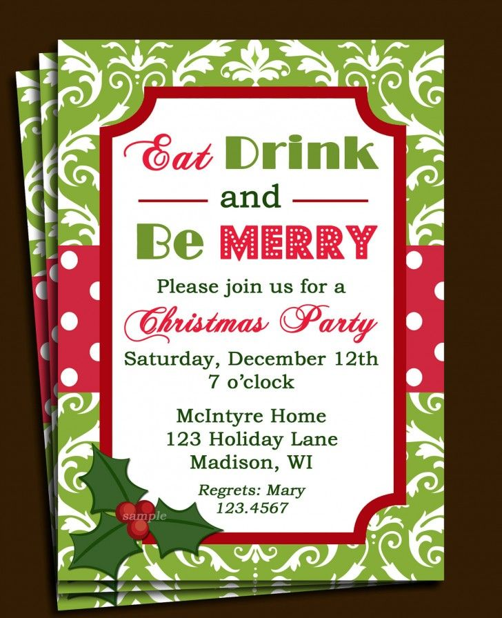 Christmas Invitation Template V4 by Thats Design Store on