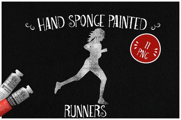 Sponge Painted Runners by Kaazuclip on @creativemarket